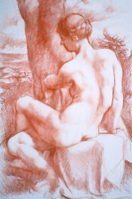 Nude Drawing by Bruno Civitico