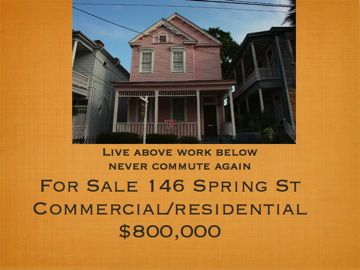 Downtown Charleston 146 Spring St commercial residential