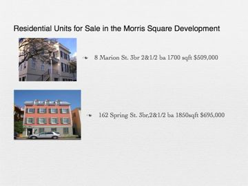 Morris Square development between Morris St and Radcliffe St residential units for sale