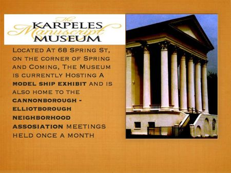 Karpeles Manuscript Museum on the corner of Coming and Spring downtown Charleston Sc
