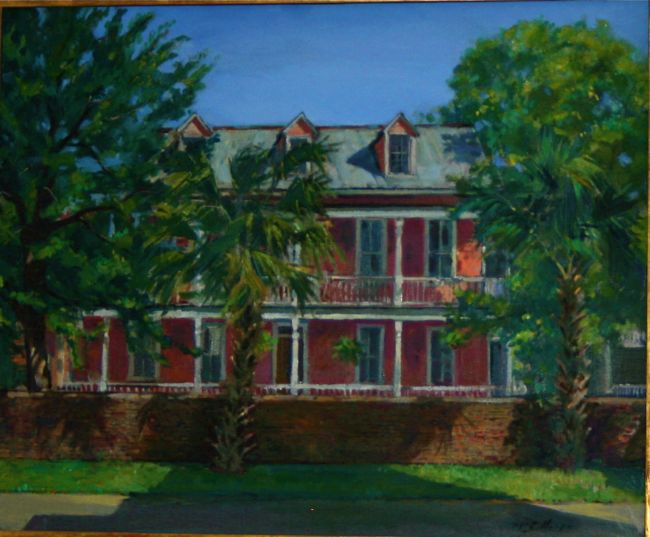 Pink House on Spring by William McCullough