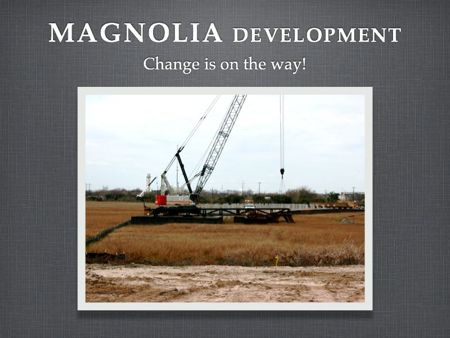Magnolia Development pushes forward with bridge to Wagener Terrace