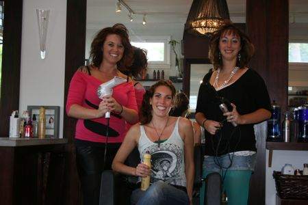 Eighties Ladies, Carrie, Melissa, and Amber at Velvet Salon