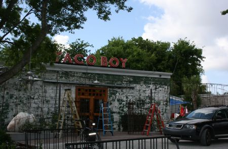 the fantastic new Taco Boy on Huger street between King and Meeting