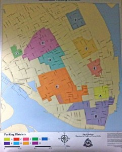 Downtown Charleston Sc Parking Districts Map