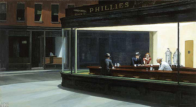 "Edward Hopper ""The Nighthawks"""
