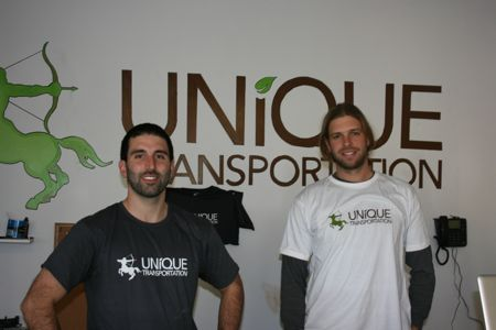 Daniel and Griff co-owners of Unique Transportation