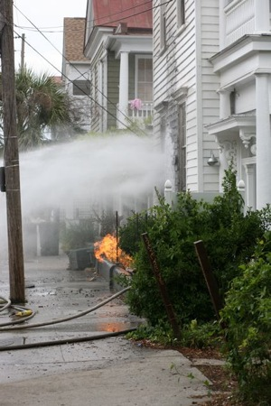 Fire on Spring St in downtown Charleston Sc Elliotborough