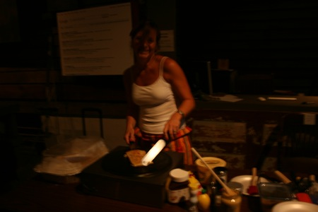 crepes served hot at movie night