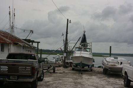 Shrimp and Fishing boats at the Bluffton Oyster Company