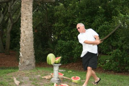 A weekend game of Watermelon Decapitation at Hilton Head Island