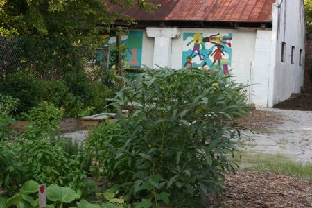 downtown charleston park in elliotborough with community garden