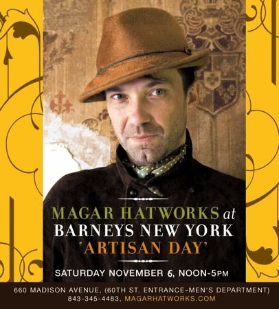 charleston sc elliotborough resident leigh magar featured at Barney's artisan day in nyc