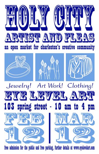 Artist Market tomorrow at Eye Level Art Elliotborough Cannonborough Charleston Sc