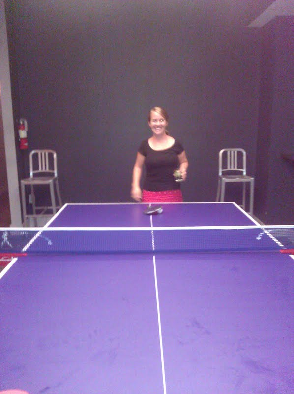 A round of ping pong at HoM on Upper King St